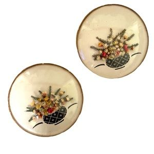 Vintage Dried Flower Circle Dome Wall Hangings